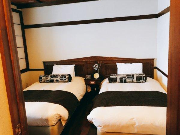 湯の川温泉望楼NOGUCHI函館12階1202「月見の間」_ベッドルーム