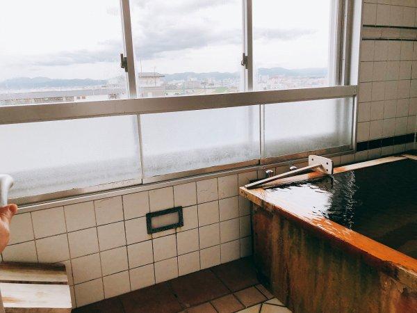 湯の川温泉望楼NOGUCHI函館12階1202「月見の間」_客室展望風呂からの眺望