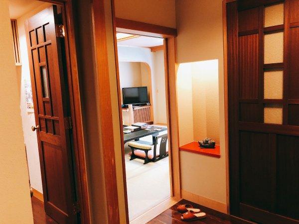 湯の川温泉望楼NOGUCHI函館12階1202「月見の間」_和室入り口