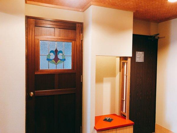 湯の川温泉望楼NOGUCHI函館12階1202「月見の間」_ベッドルーム扉