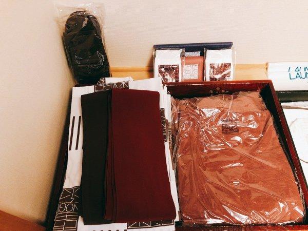 湯の川温泉望楼NOGUCHI函館12階1202「月見の間」_浴衣とオリジナル作務衣