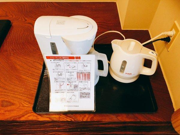 湯の川温泉望楼NOGUCHI函館12階1202「月見の間」_コーヒーメーカー