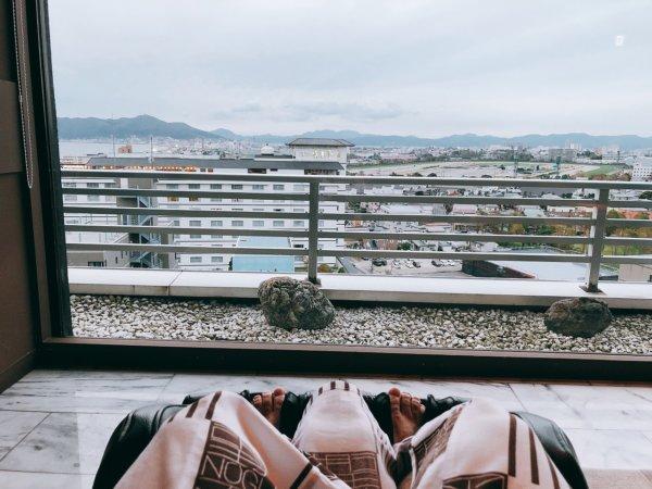 湯の川温泉で人気の望楼NOGUCHI函館_大浴場のある13階休憩処のマッサージ機