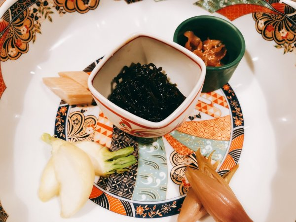望楼NOGUCHI函館ブログ宿泊記【食事】夕食_香の物盛り合わせ