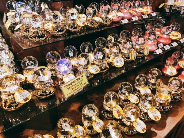 函館AM半日観光_函館ベイエリア金森倉庫_お土産ショップのガラスオルゴール