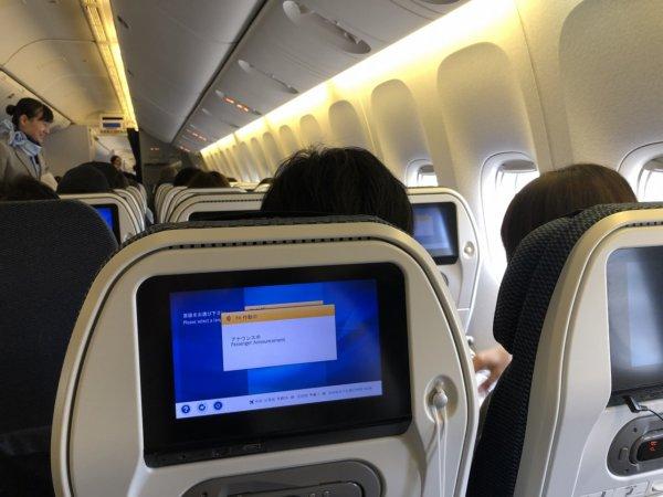 【メキシコ旅行】プエルトバジャルタの行き方_ANAヒューストン便_機内の様子