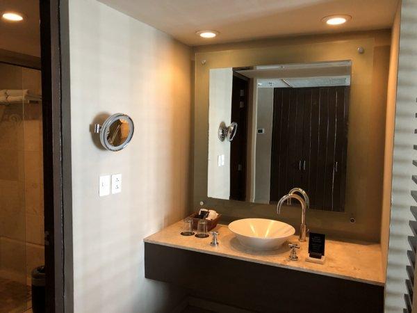ハードロックホテルバリャルタのデラックスゴールドルーム_洗面室