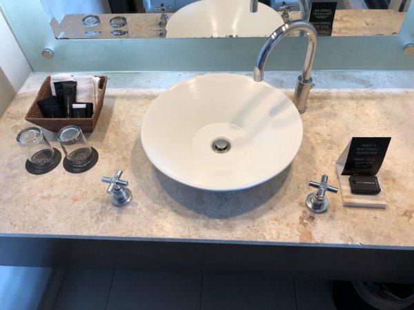 ハードロックホテルバリャルタのデラックスゴールドルーム_洗面カウンター