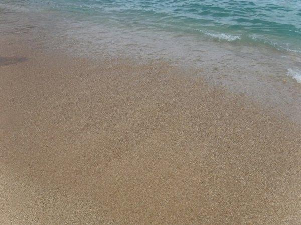ワールドベンチャーズDreamTripsにセットされていたマリエタス諸島ツアーMARIESTA ECO-DISCOVERRY_ビーチの砂