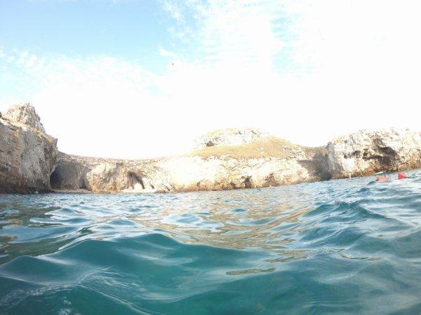 ワールドベンチャーズDreamTripsにセットされていたマリエタス諸島ツアーMARIESTA ECO-DISCOVERRY_上陸したビーチの海