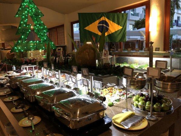 ハードロックホテルバリャルタのディナーレストラン_ブラジル料理 IPANEMA_ビュッフェ料理1