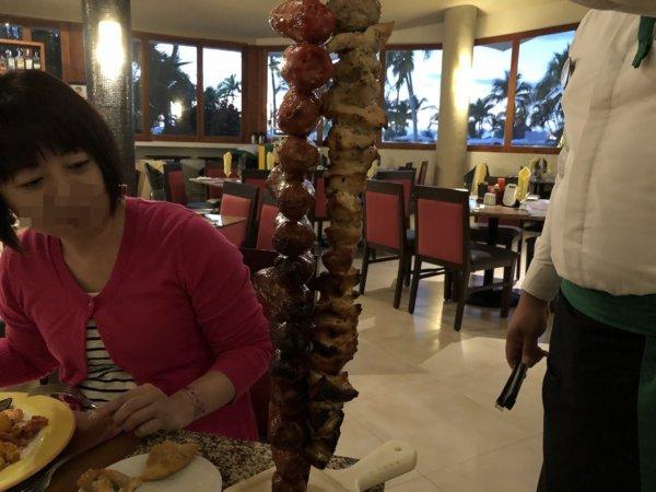 ハードロックホテルバリャルタのディナーレストラン_ブラジル料理 IPANEMA_シュラスコ料理1