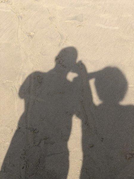 ハードロックホテルバリャルタのビーチで50's夫婦たび記念影写真