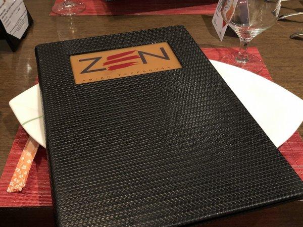 ハードロックホテルバリャルタのディナーレストラン_日本・アジア料理 ZEN_メニュー表紙