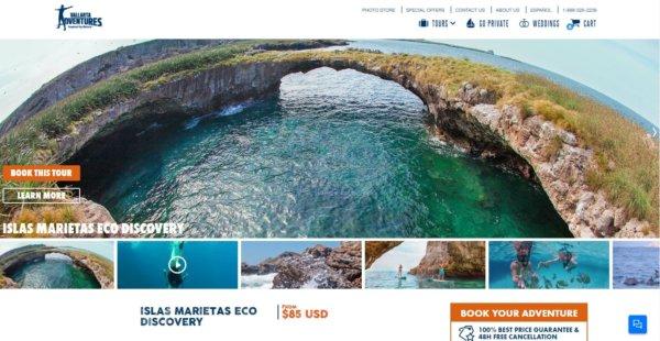 ワールドベンチャーズDreamTripsにセットされていた『マリエタス諸島ツアーMARIESTA ECO-DISCOVERRY』現地オプショナルツアー会社のVALLARTA ADVENTURES