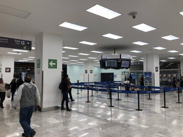 メキシコシティ国際空港出国Gゲート