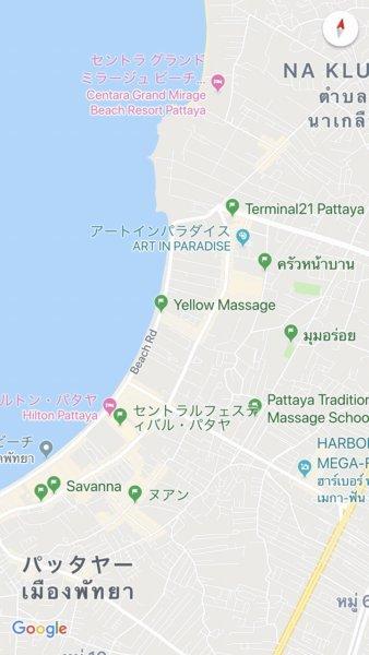 Googleマップ_スマホで同期されているところ