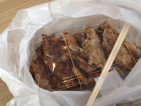 新札幌でラーメンが美味しい店|麺や虎鉄(めんやこてつ)厚別店_おみやげお持ち帰りザンギ5個