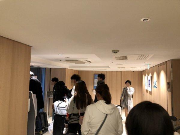 羽田空港に近いホテル京急EXイン羽田_無料シャトルバス乗り場ロビー1