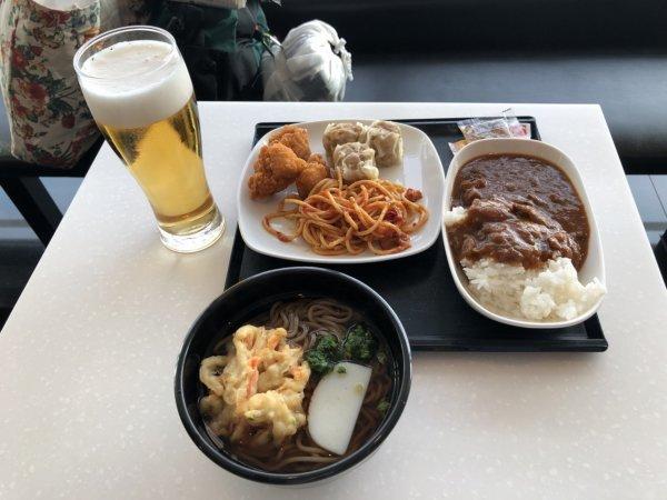 羽田空港国際線ターミナルANAラウンジ_日本食ほかお食事メニュー_モリモリ朝食