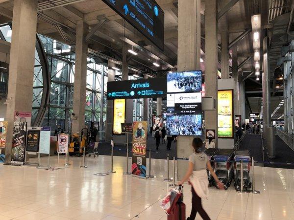 タイ・スワンナプーム国際空港_到着ロビー
