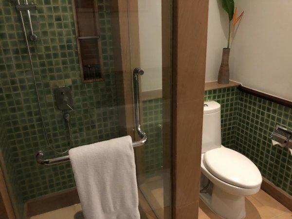 インターコンチネンタルパタヤリゾート_客室キングベッドガーデンビュー_トイレとシャワーブース