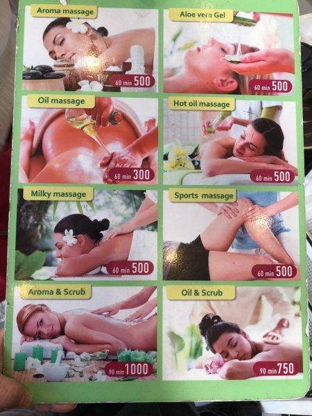 パタヤで全身タイマッサージ_Yellow Massageイエローマッサージ_写真メニュー2