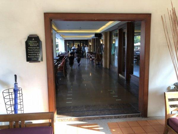 インターコンチネンタルパタヤリゾートの朝食_朝食会場入口