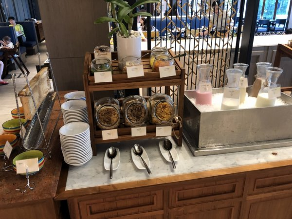 インターコンチネンタルパタヤリゾートの朝食_会場のお料理9