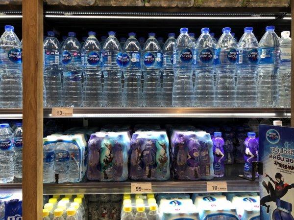 パタヤのショッピングモールセントラルフェスティバルパタヤ_スーパーマーケット_お水