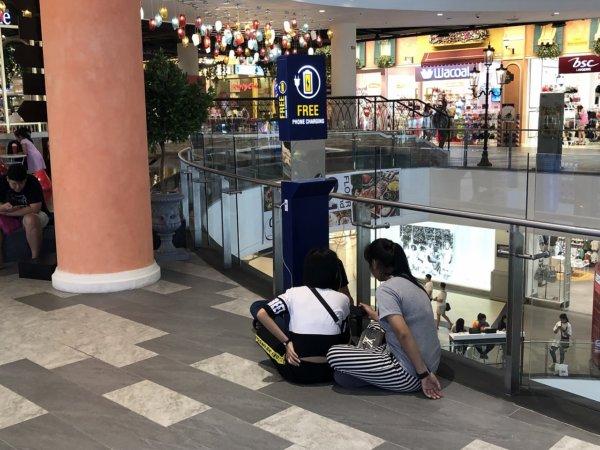 ターミナル21パタヤ_Wi-Fi無料充電スポット