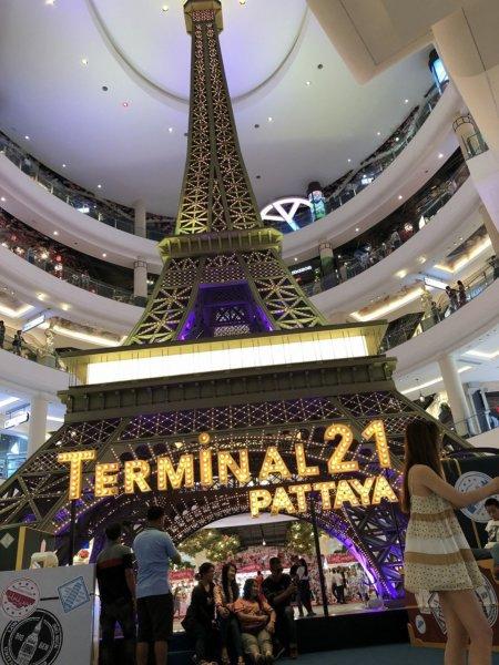 ターミナル21パタヤ_パリのエッフェル塔