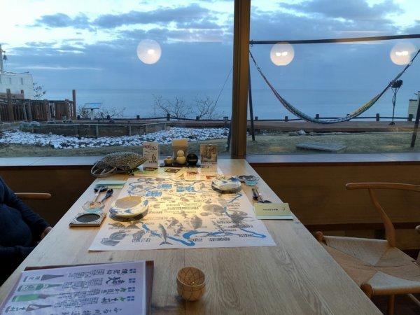 海の別邸ふる川の食事処海の詩_海側の席から見える外の風景