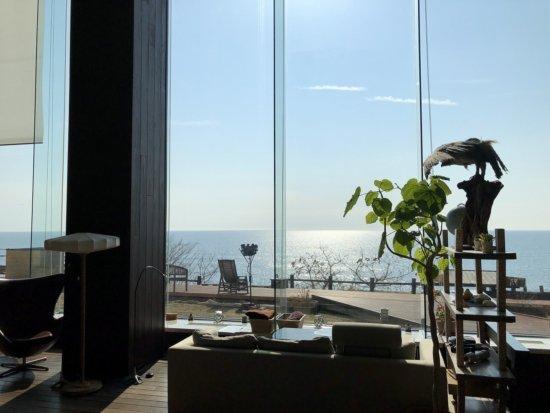 海の別邸ふる川_ロビーラウンジからの眺め2