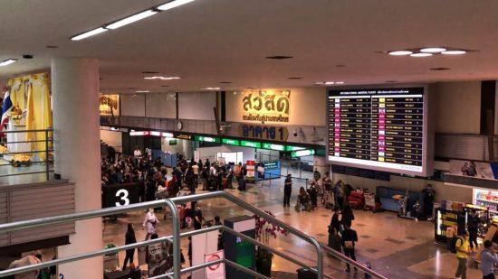 タイ・ドンムアン空港税関を出た2階からの見た目